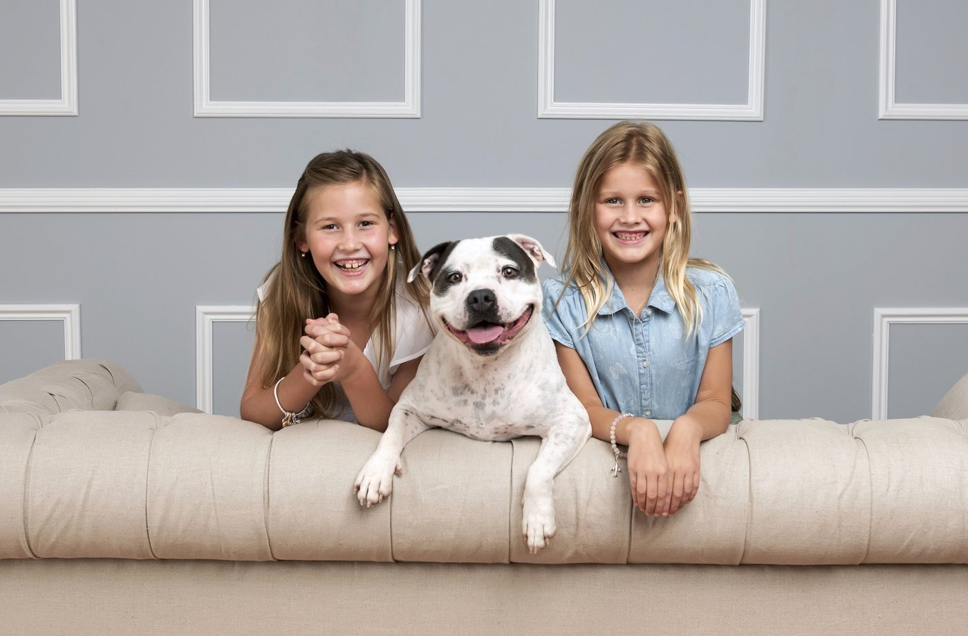"""Sarah Allen - """"The photographs that Kate took are stunning. She captured our girls perfectly, their personalities shining in each frame. Our crazy pooch enjoyed it all so much too."""""""