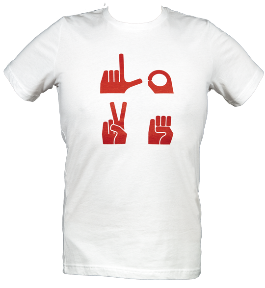 Love Front and Center $22.50 X-Small, Small, Medium, Large, X-Large