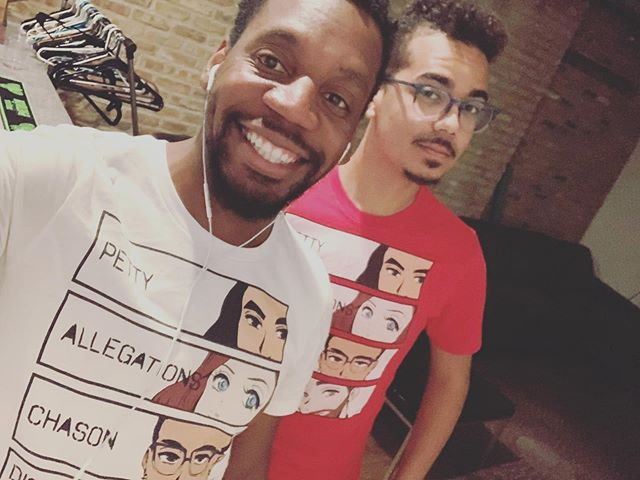 Trying to clean out my merch tonight! Come get a tee designed by @beevuu tonight @bourbonondivision !!! 2 for $10.00 doors open at 10pm!!!