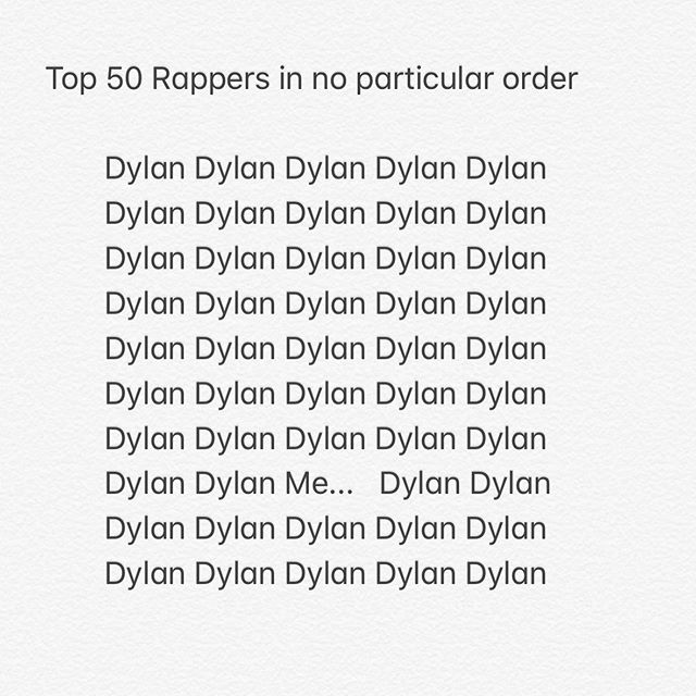 Made a list of the top 50 rappers let's talk about it