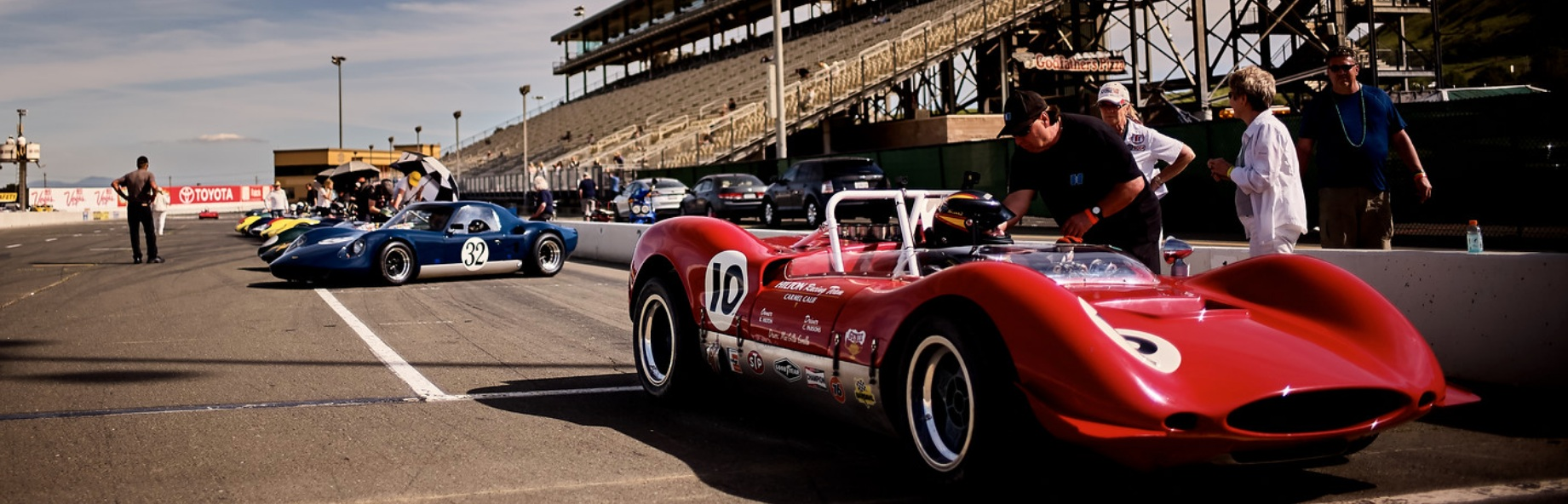 24 USRRC Tribute cars lined up to kick off a new series