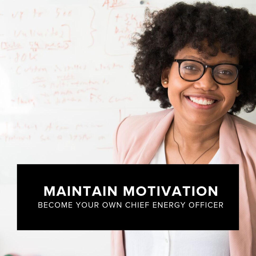 Maintain Motivation - What if you could eliminate more of what depletes your energy and add more of what generates your energy? What if you could keep your motivation levels high all day long? You can learn to do so! Through this interactive session you tune in and become aware of your energy patterns so that you can learn to keep your energy sustained throughout the day. By the end of the session you will have gained insights and created a personal plan to become a leader that is able to maintain higher levels of energy.a) Become your own CEOb) Energy and how it worksc) Increase your willpower musclesd) Identify sources of depletion and repletione) Create more FLOW experiences in your dayf) Develop an Energy Plan for moving forwardWorkshop conducted by certified coach Danny G.