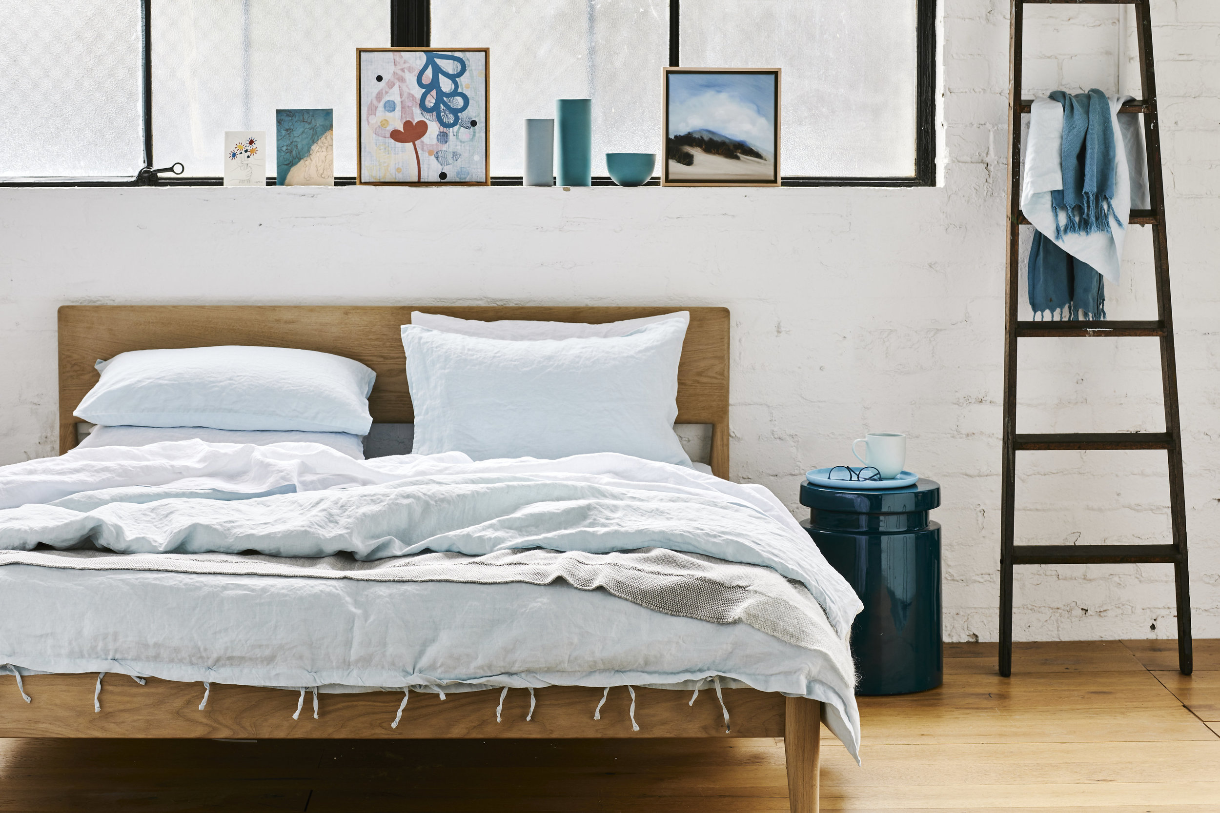 St Marc is a bed linen brand based in Melbourne. The product is French Linen stone washed to soften in a lovely range of colours.  We needed to capture the quality and range of colours in a lifestyle environment when they launched the brand.   www.stmarc.com.au