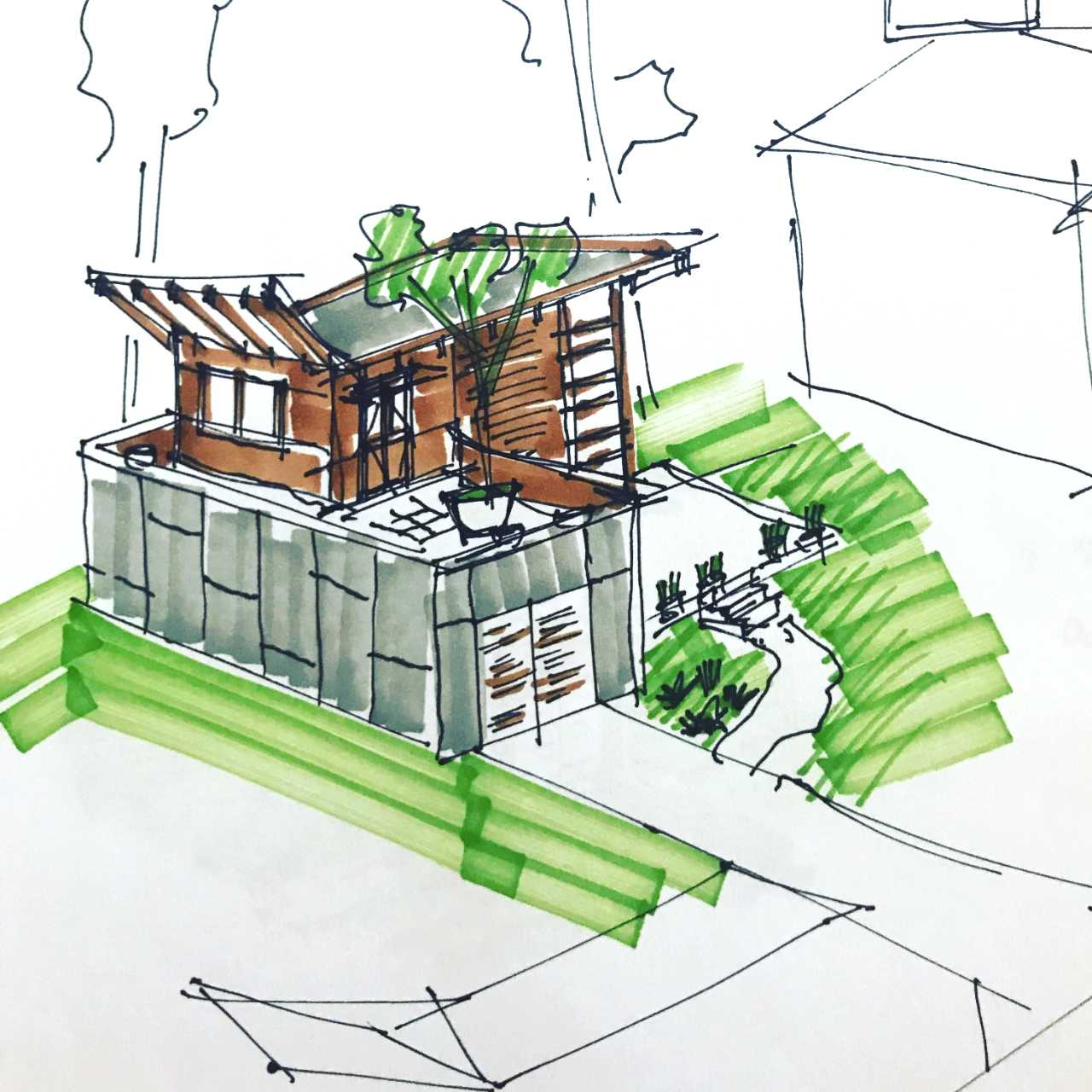 Guide to Planning your prefab Backyard Cottage in Seattle - New rules for backyard cottages are taking effect in Seattle on August 8th, opening up a new opportunity for homeowners to leverage the development potential of their lots, while helping to ease Seattle's housing crisis. This guide is a rigorous introduction to the complex feasibility issues of designing a prefab (or site built) backyard cottage. This should allow you to grade your lot and understand the issues that will prepare you to discuss the project with your architect.by Brett Holverstott, AIA