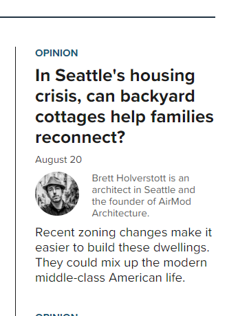 Recent    article    in Crosscut News