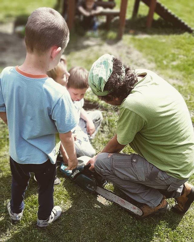 Jak pojawia się problem z piłą, pojawia się od razu silne wsparcie dzieciaków :) #dziecizmocą