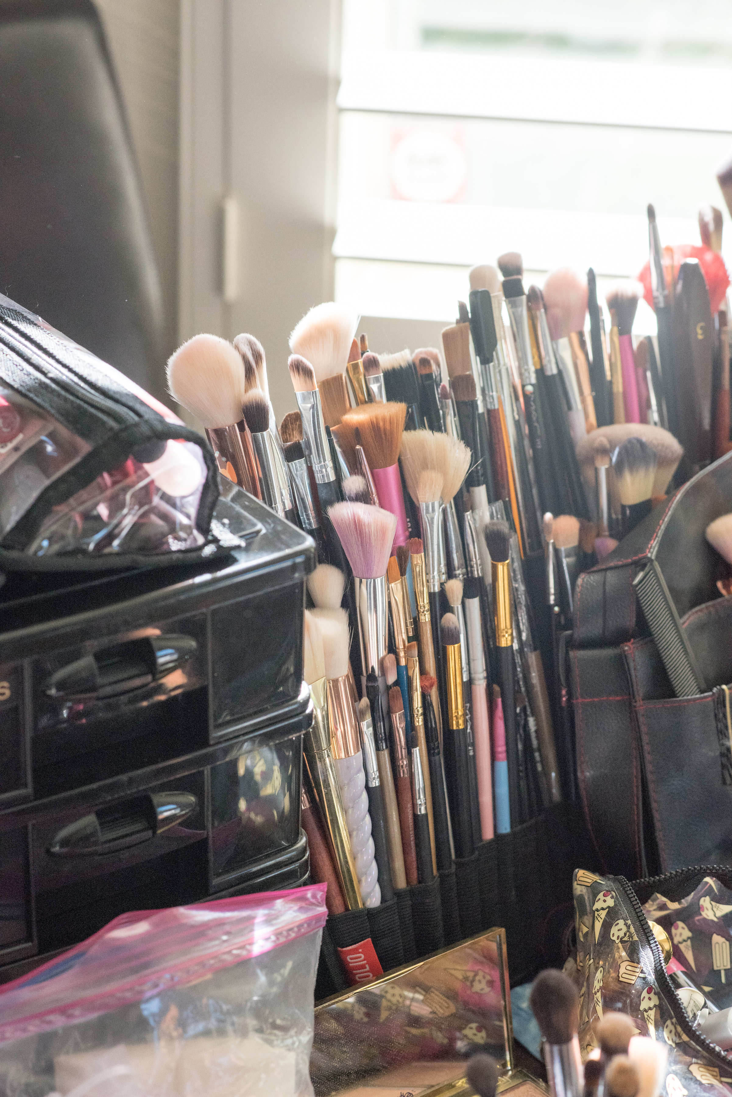 Just a little snapshot of my brush collection for weddings and events