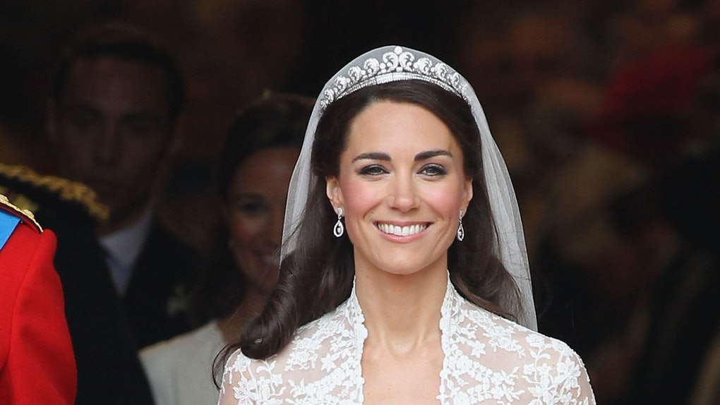 Kate Middleton also went for a very natural makeup look with rosy cheeks and top and bottom smudgeproof eyeliner.