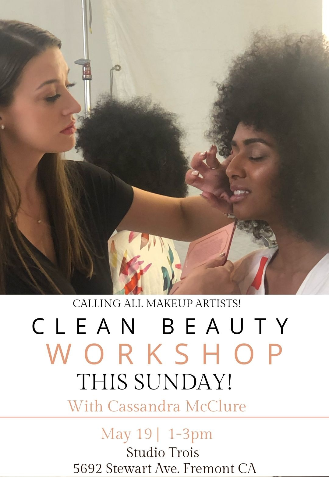Clean Beauty Artistry Workshop for professional makeup artists - Presented by Cassandra McClure