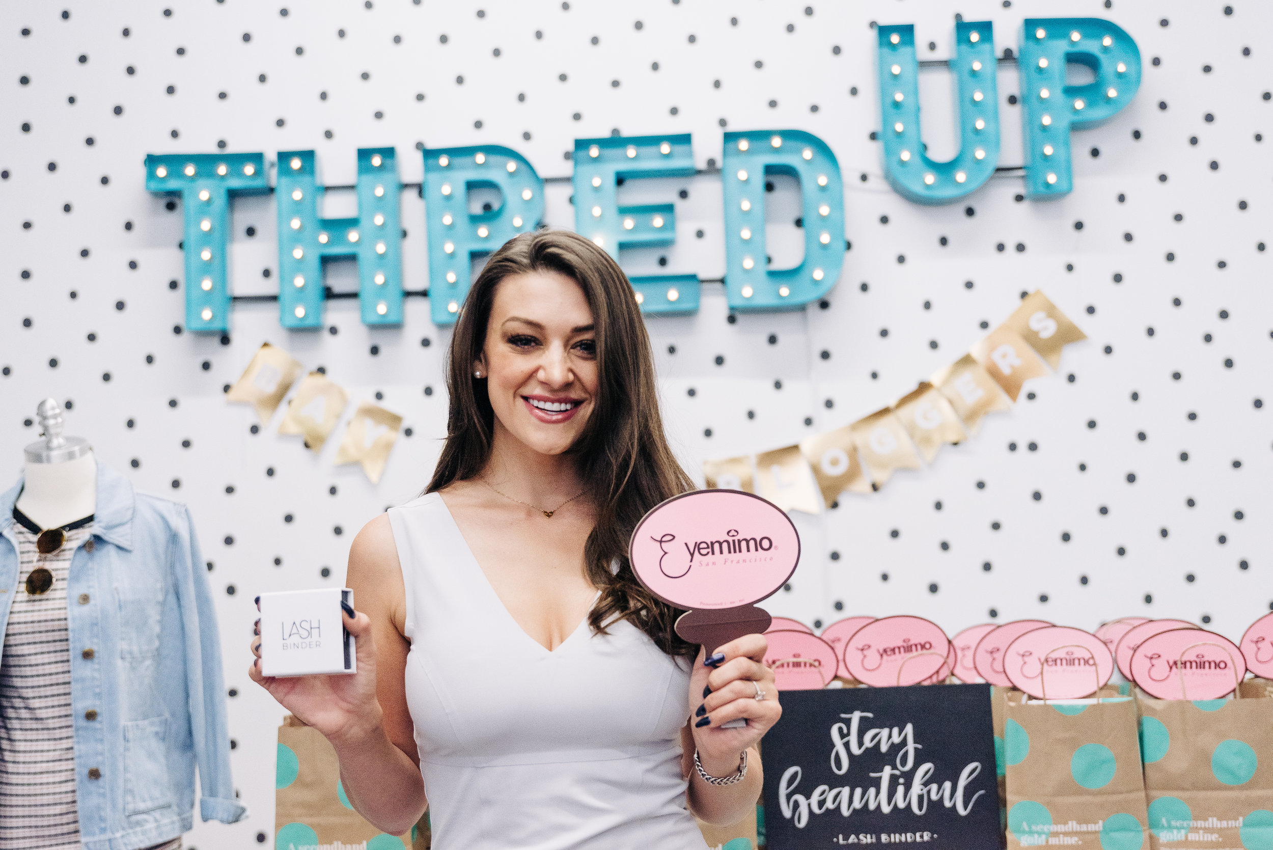 """Lash Binder had a fun """"Lash Bar"""" pop-up event with Eyemimo in Oakland at Thred-Up!"""