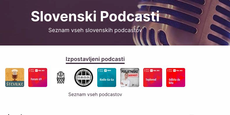 Foto: Posnetek spletne strani Podcasti.si