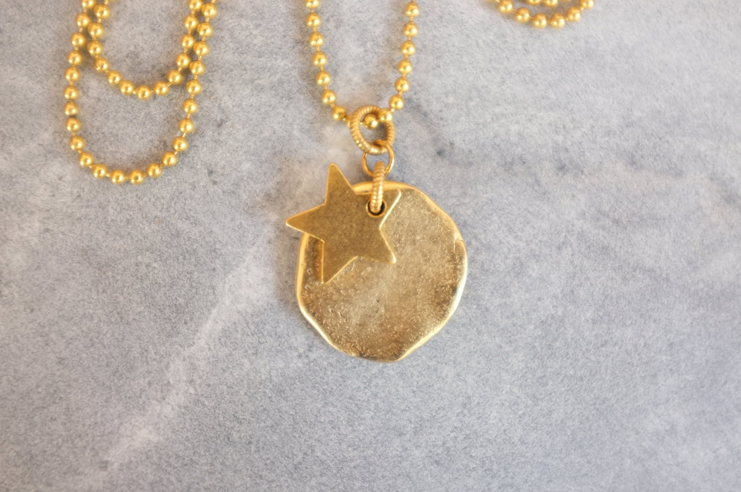 Copy of Full Moon pendant necklace in gold