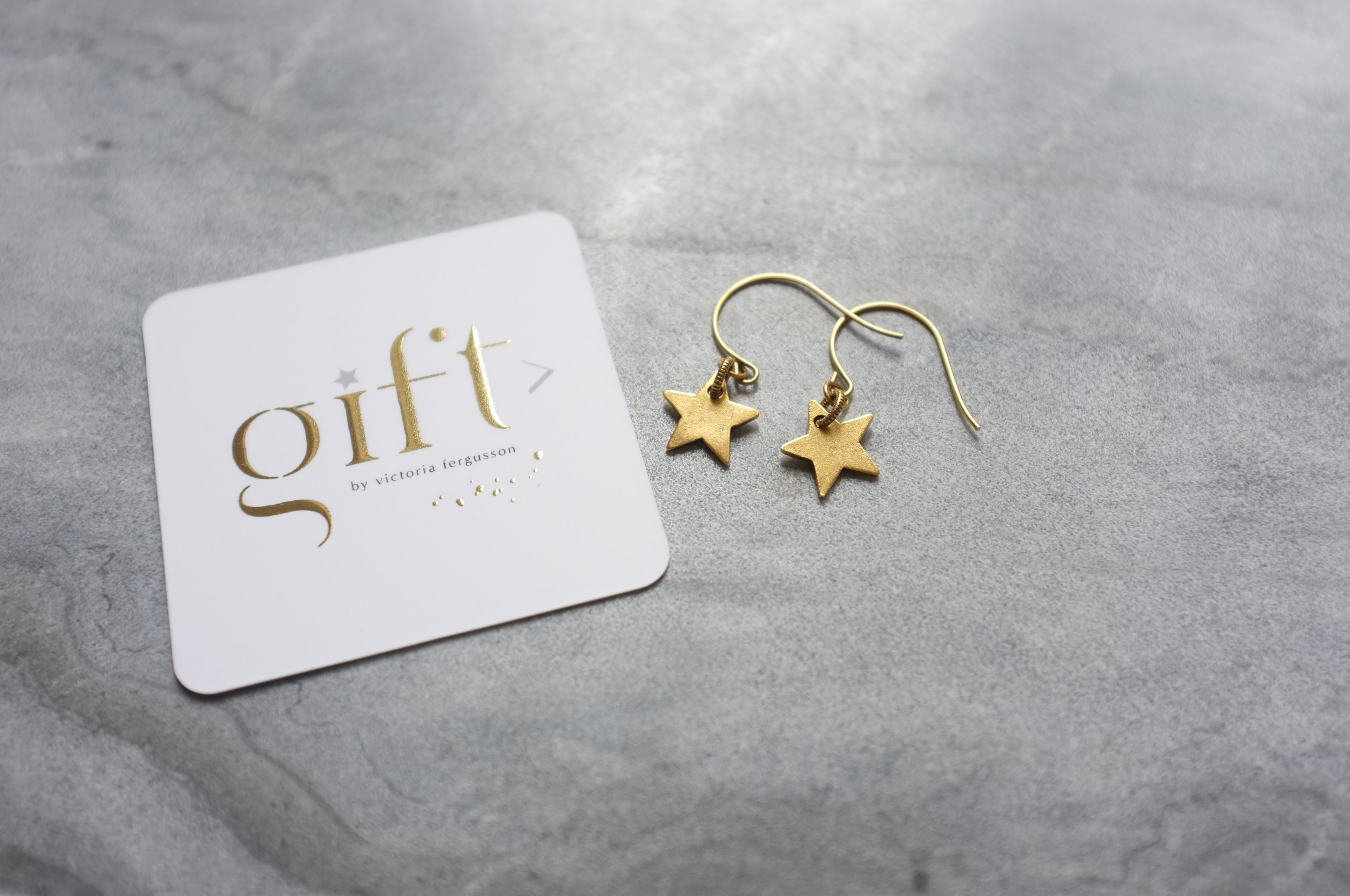 Copy of North Star earrings gold