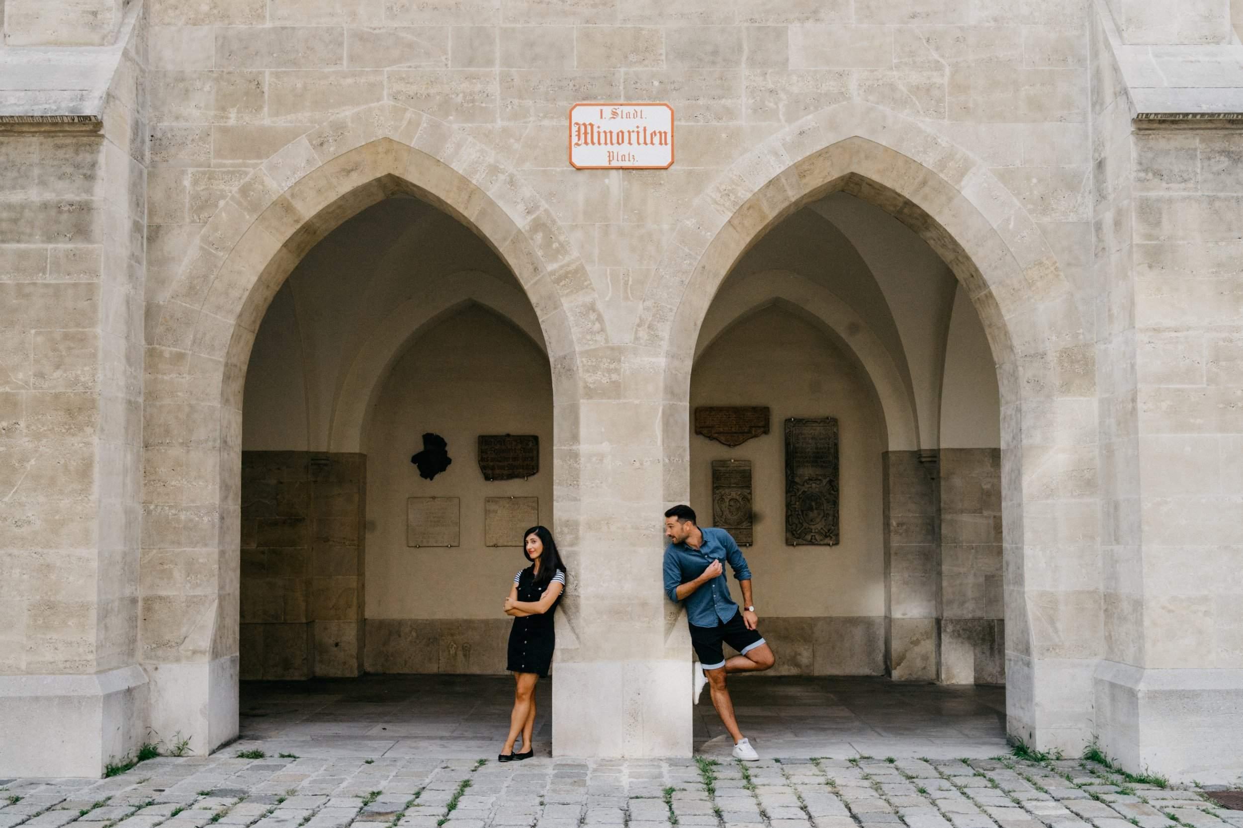 Schöne Paarfotos in Innenstadt Wien