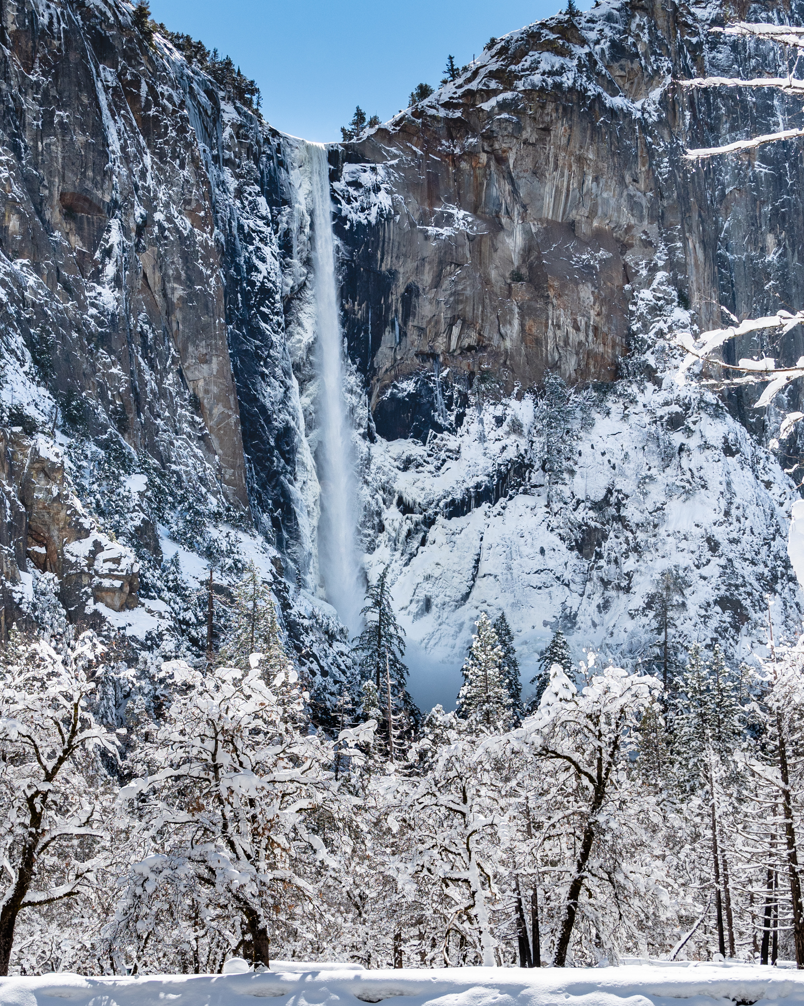 Bridalveil Fall in Winter
