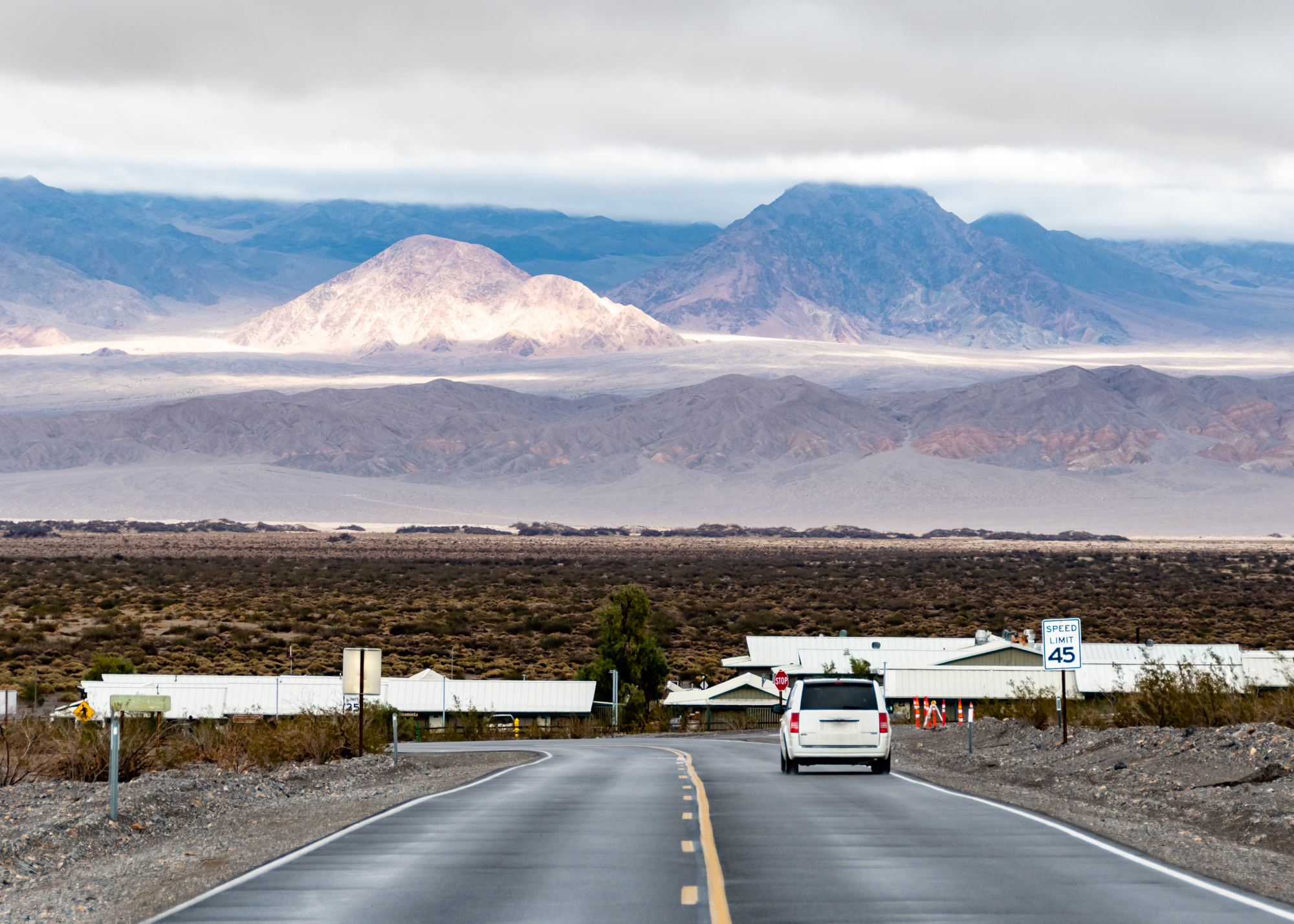Approaching Stovepipe Wells - Death Valley