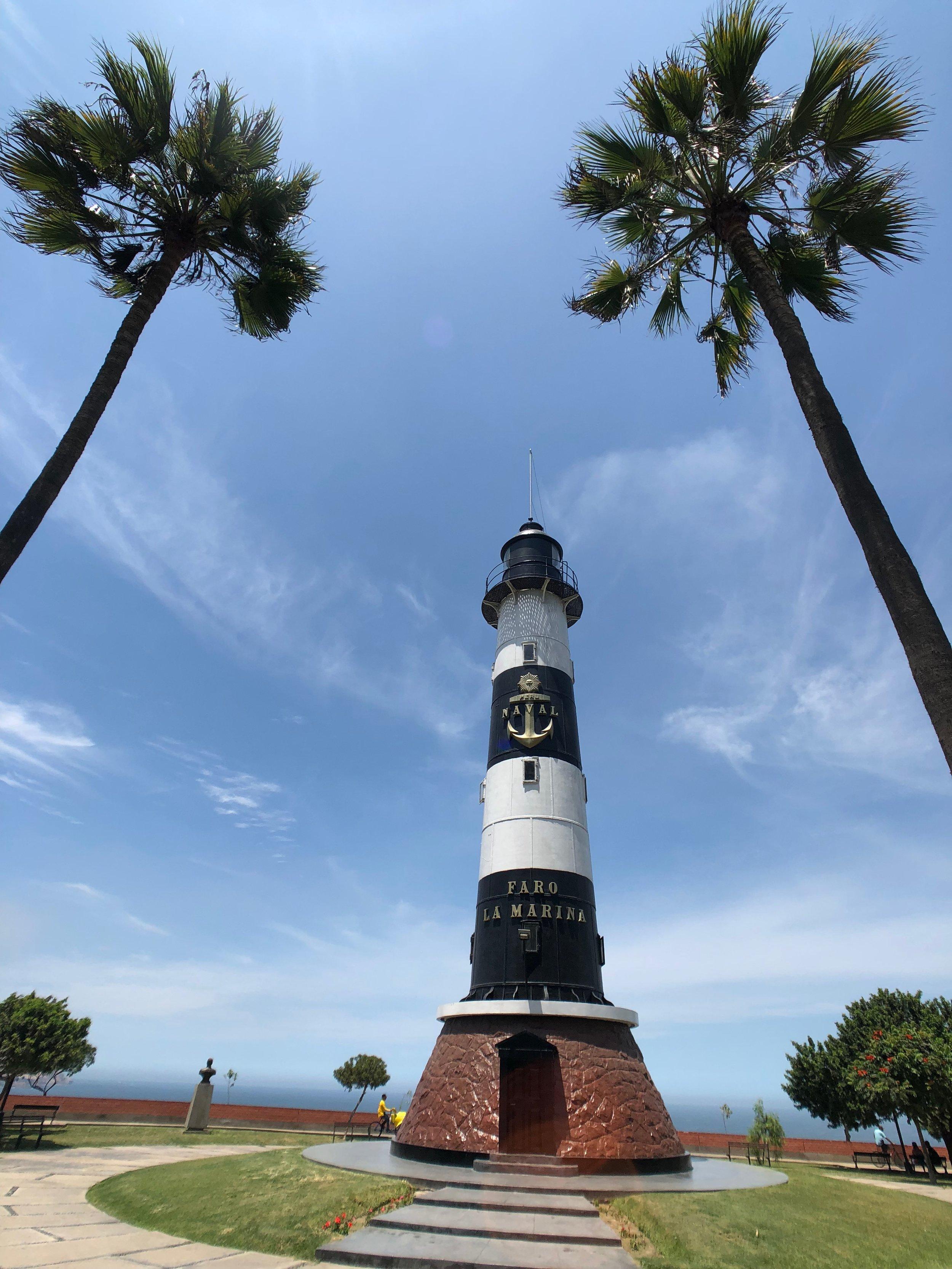 Miraflores-malecon boardwalk - lima - peru - parque del amor - travel tips - south america - lighthouse