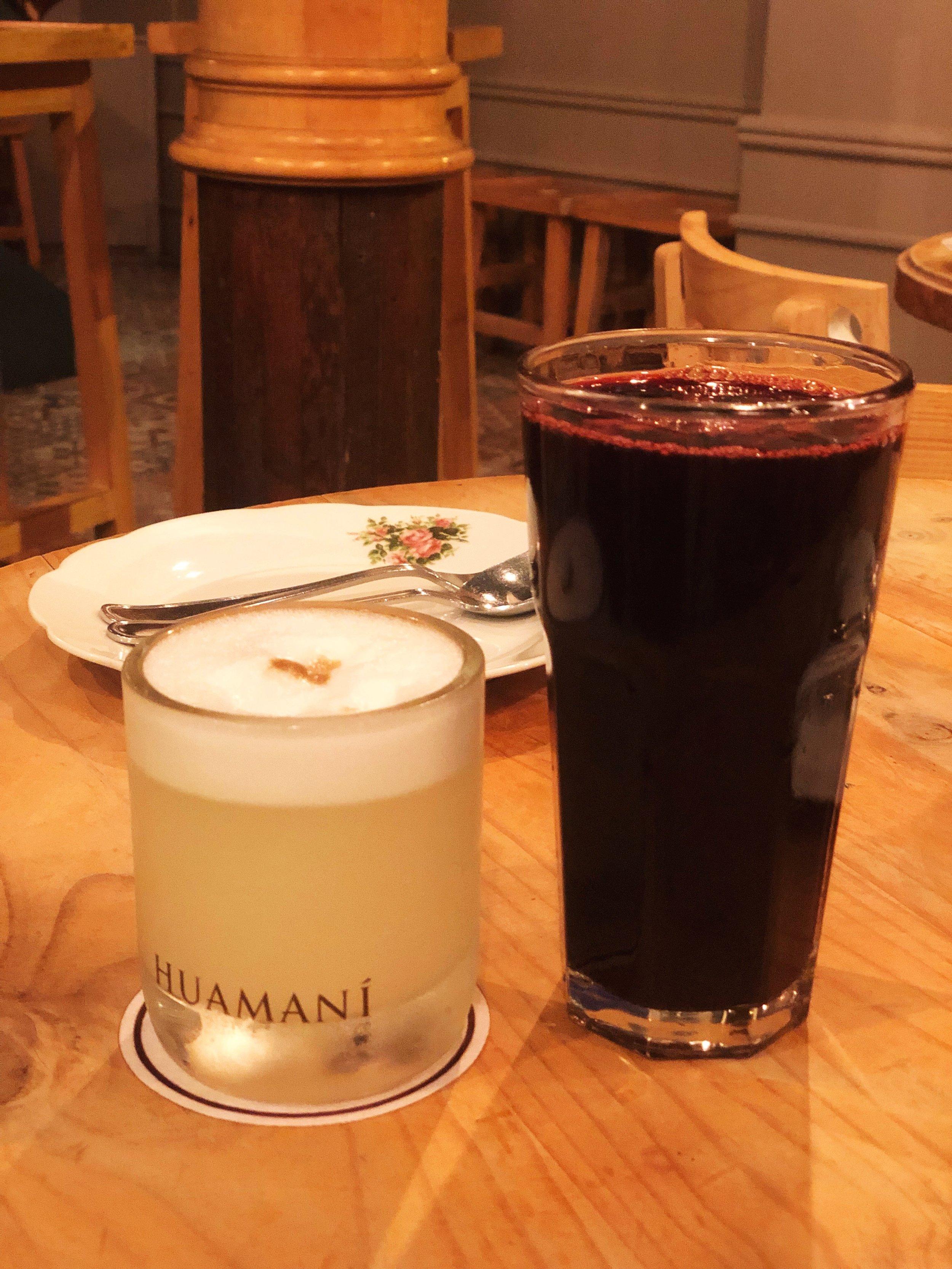 Isolina-peru-lima-barranco-food-restaurant-travel-tips-chicha morada - pisco sour