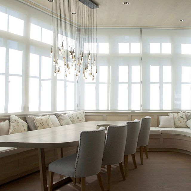 Probably the prettiest dining room we ever built. ⠀ The light fixure! The chairs! The bench! The windows!⠀ It was just as comfy as it was beautiful. ⠀ ----⠀ ⠀ ----⠀ ⠀  #detail #life #design #interiordesign #architecture #interior #home  #luxuryrealestate #homedecor #dreamhome #homedesign #luxuryhomes #homestyle #interiorstyle #luxuryinteriors #decor #house #furniture #inspiration #interiors #style #interiorstyling #interiordecor #interiorinspiration #instahome #modern #diningroom
