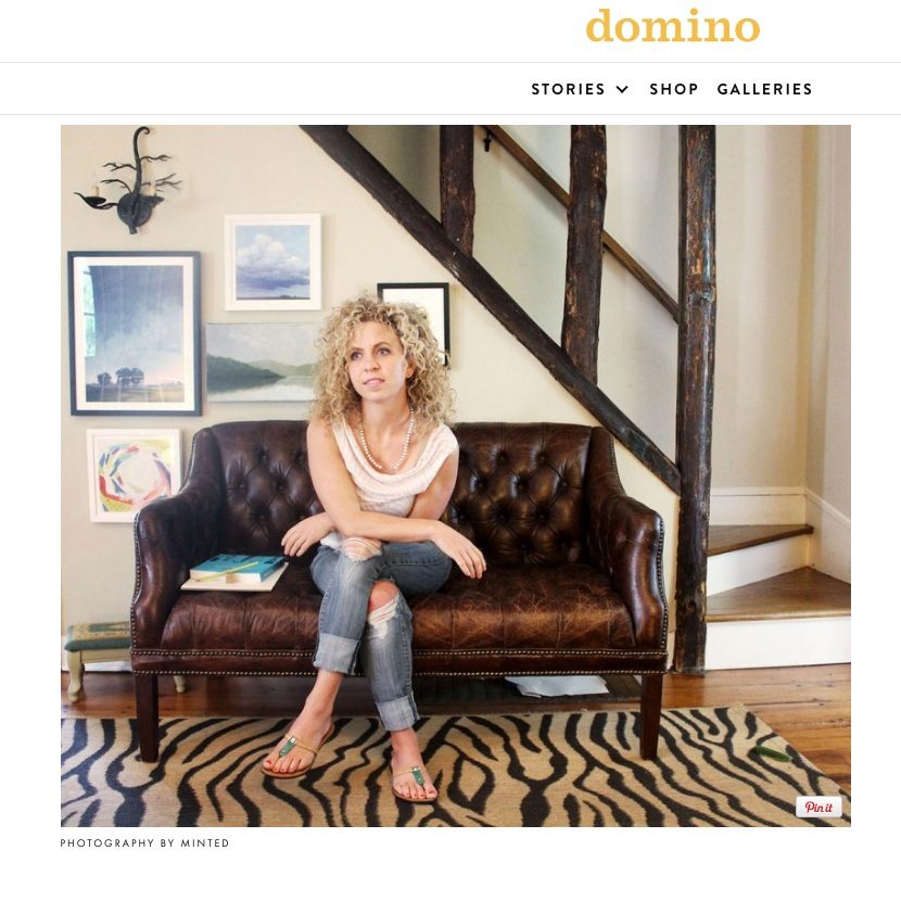 Stephanie featured in Domino Magazine