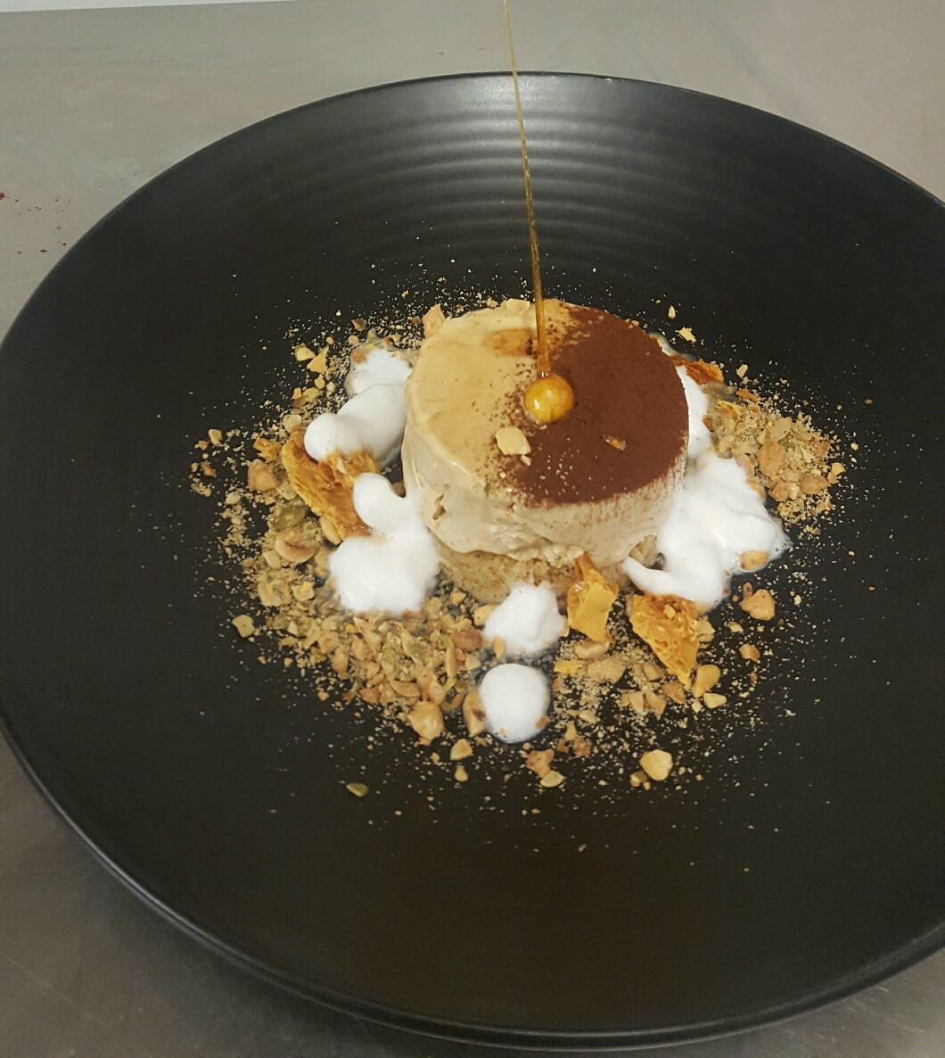 The winning entry,  a delicious iced coffee parfait, banana bread and milk foam dessert, was made using typical kitchen left-overs!