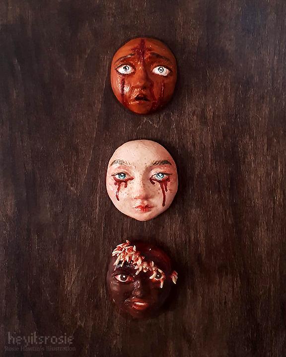 Faces Sculpture