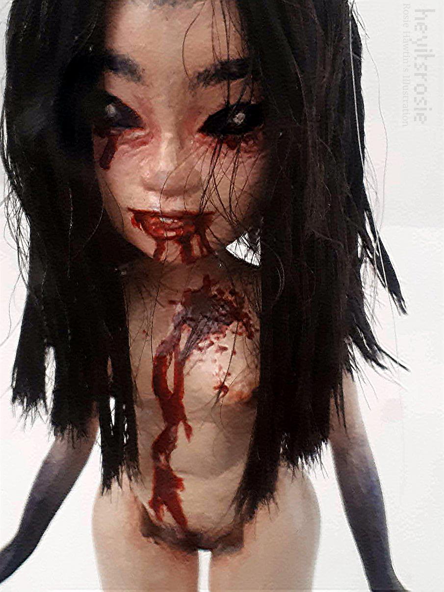 Horror Doll Sculpture