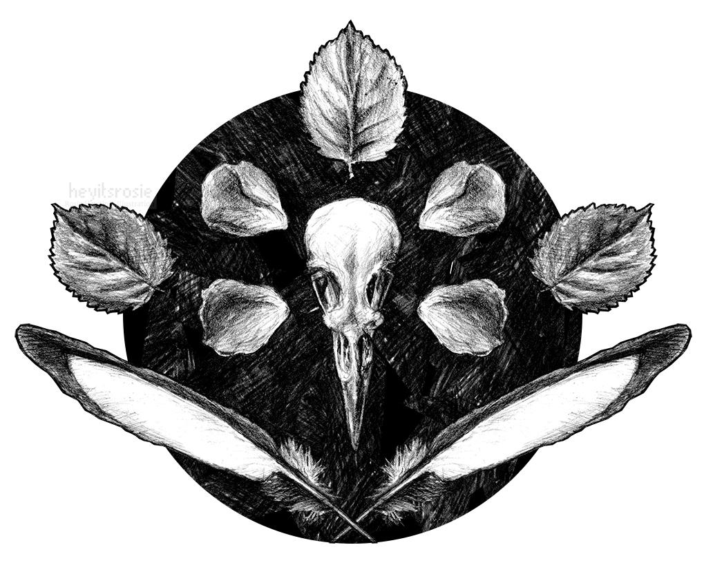 One For Sorrow Print Design