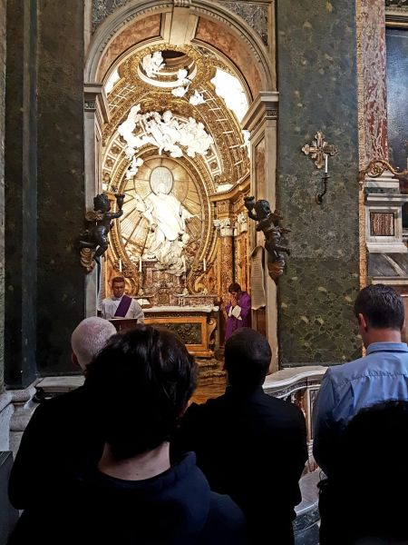 Dc. Mitch Roman officiating at St. Philip Neri church in Rome -