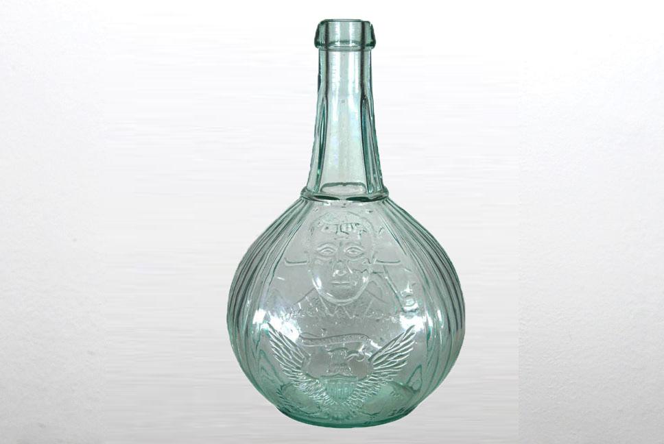 Roosevelt Wheaton glass flask