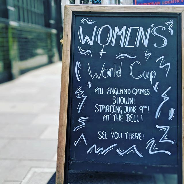 The #womensworldcup is coming to The Bell, catch all of the #lionesses matches on the big screen  #football #england #worldcup #e1 #thebell #boozer #threelions