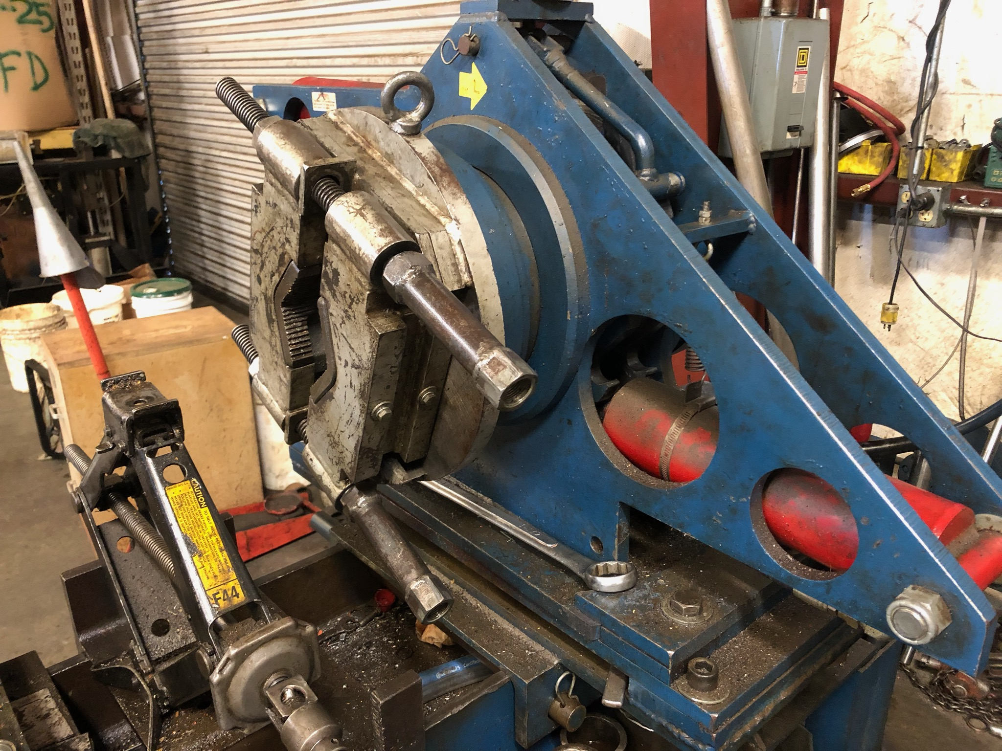 """The """"Nut Buster"""" - Our hydraulic torque wrench can generate 35,000 foot pounds of torque for disassembly and reassembly of high torque cylinders."""