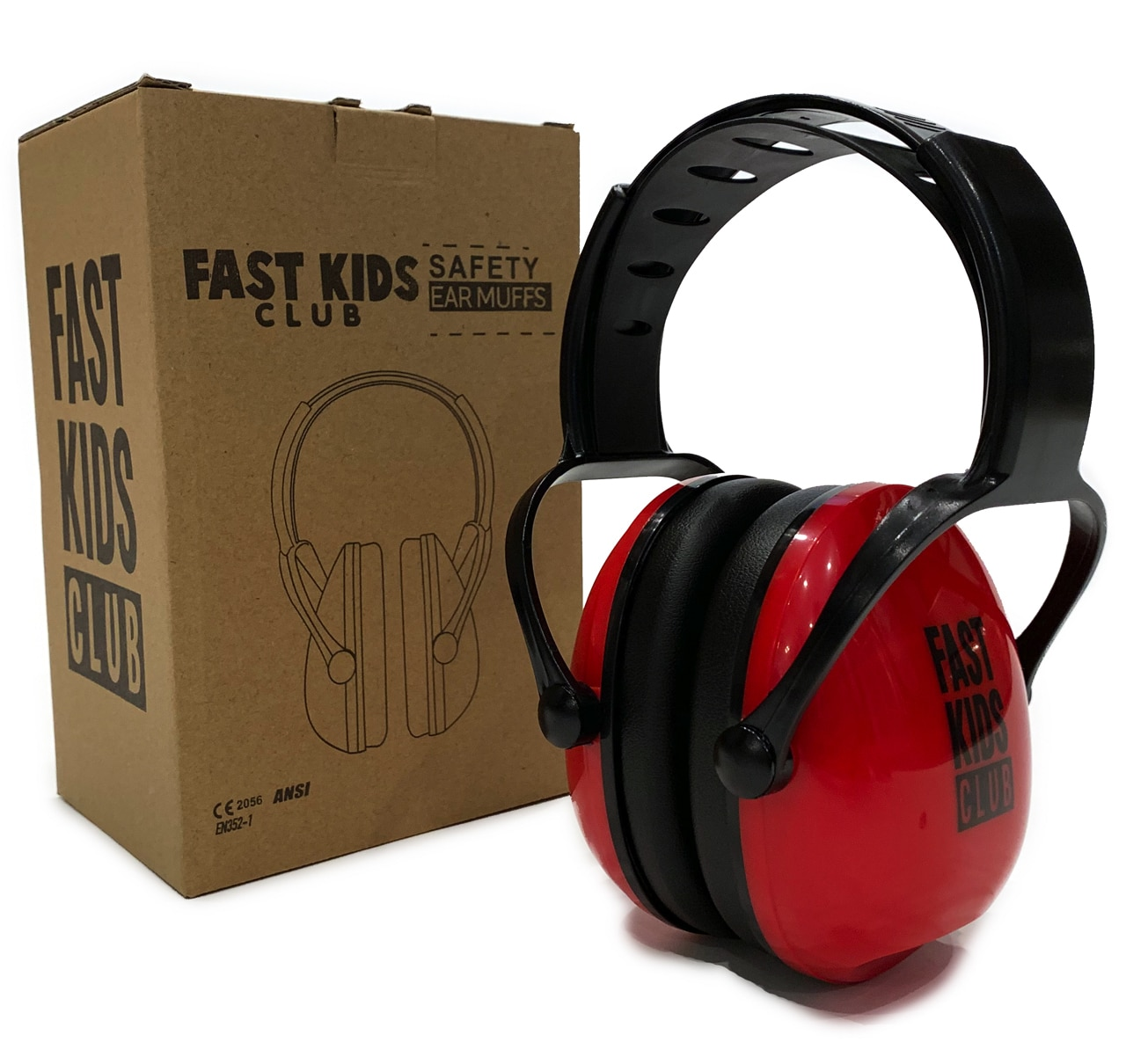 FAST KIDS CLUB SAFETY EARMUFFS (RED) - $19.99