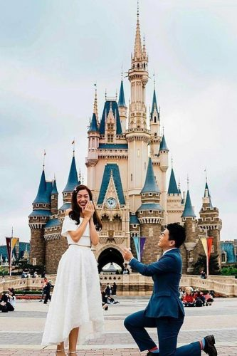 Source:  @ohsoperfectproposal   The all-around princess? Then Disney World is the perfect setting for a real-life Cinderella fairytale. It will definitely be the happiest place on earth!