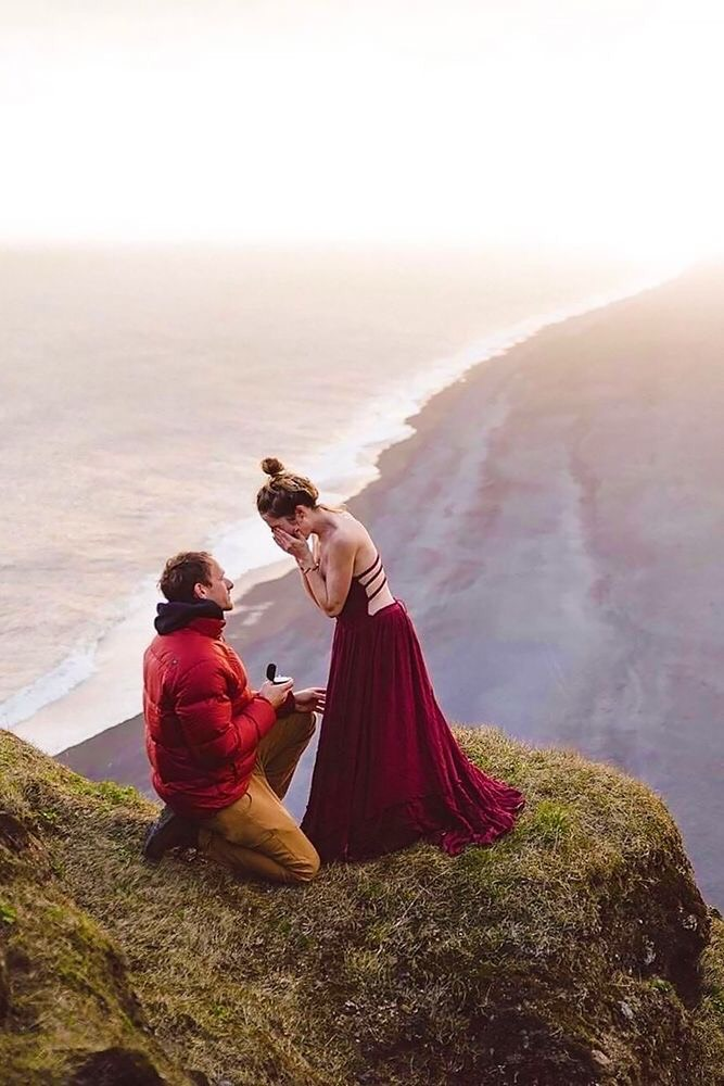 """Source:  Isaac Gautschi   Shouting out your love from the mountain top is what dreams are made of. Imagine her saying """"I WILL"""" with a magnificent view all around you."""