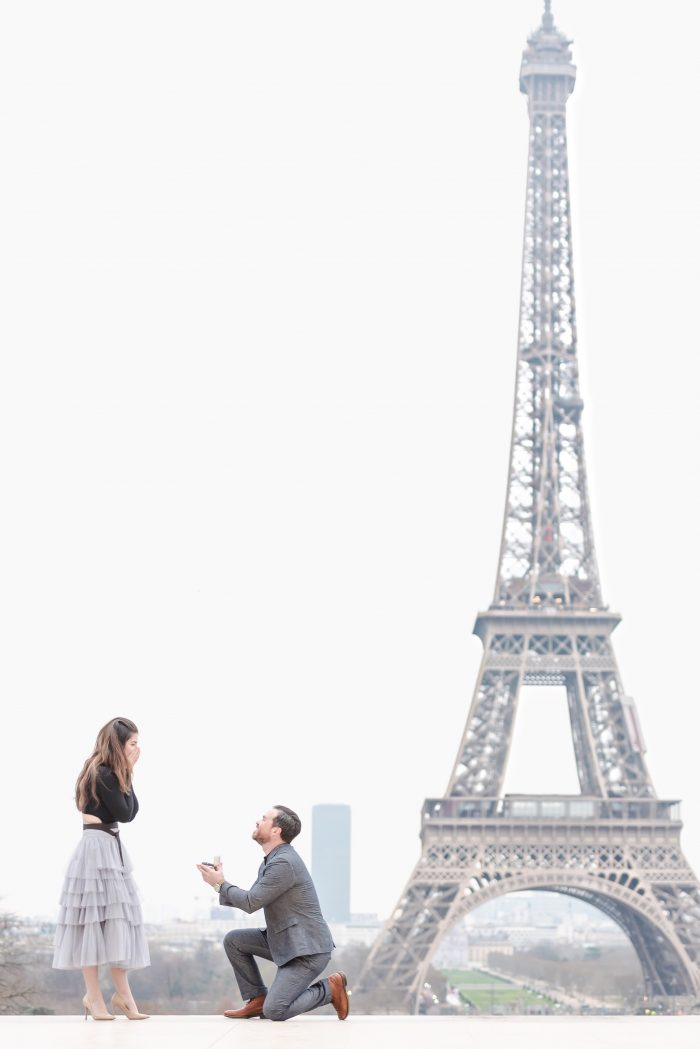 """Source:  kiss in paris   There is a reason Paris is known as the """"city of love and romance"""", so take it a step further and scream out your love on top of the Eiffel Tower, or just underneath it. Who can resist such a proclamation of love?"""