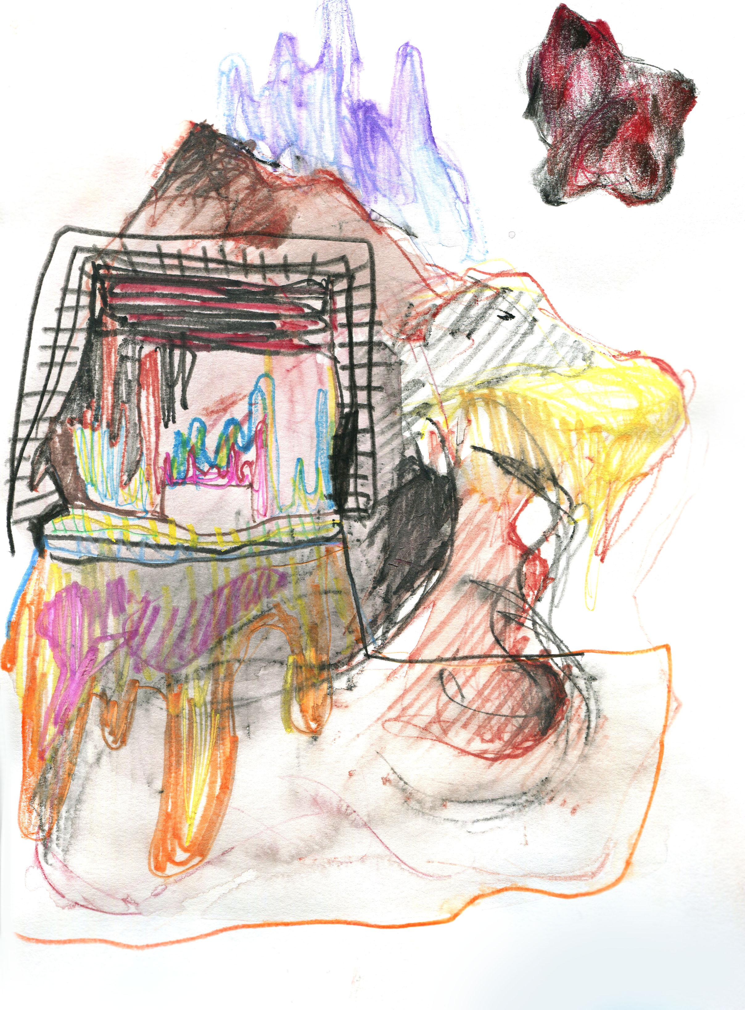 Melancholy series, colour pencil on paper, 2018