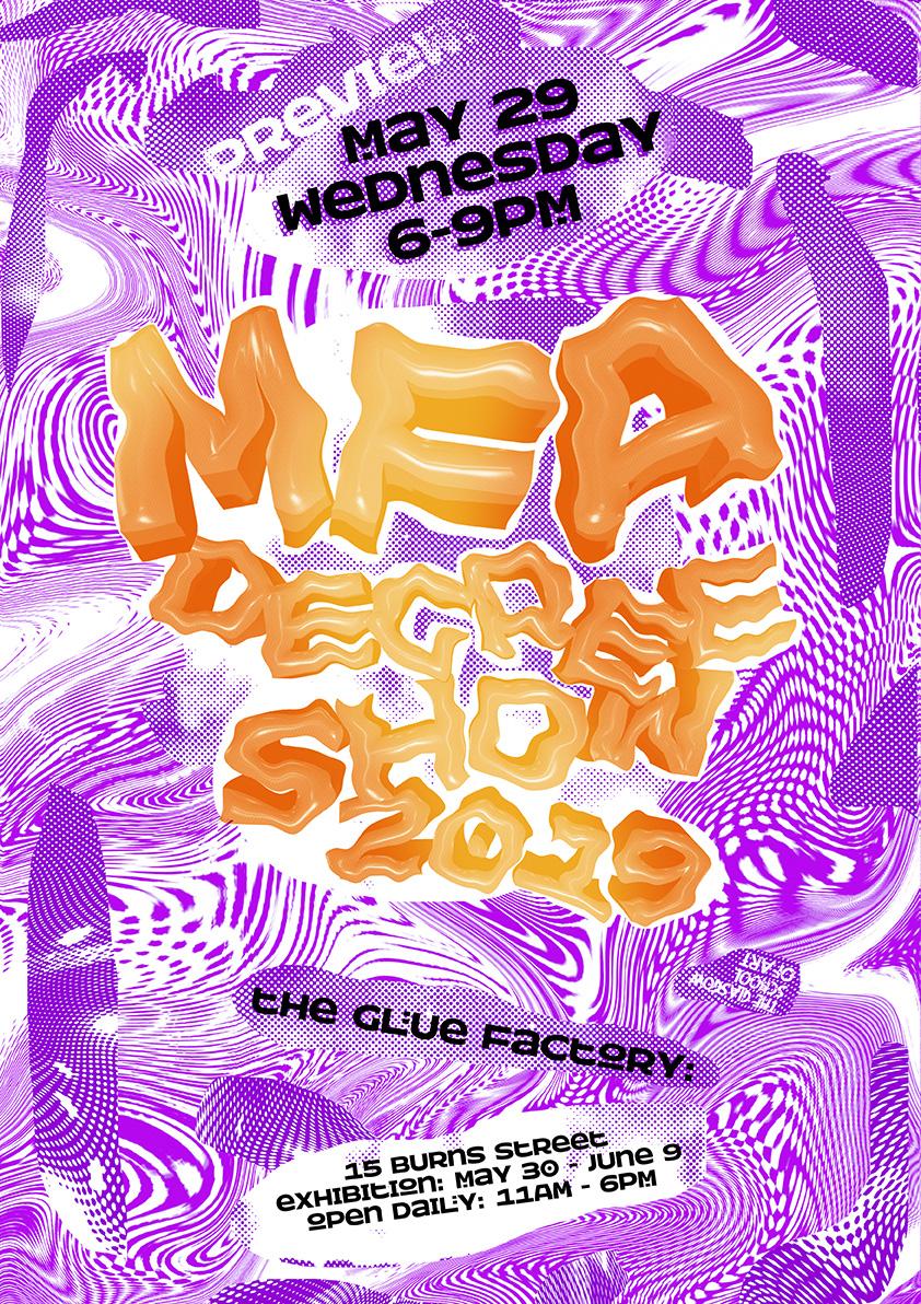 MFA Degree Show, Glue factory, Glasgow, 2019