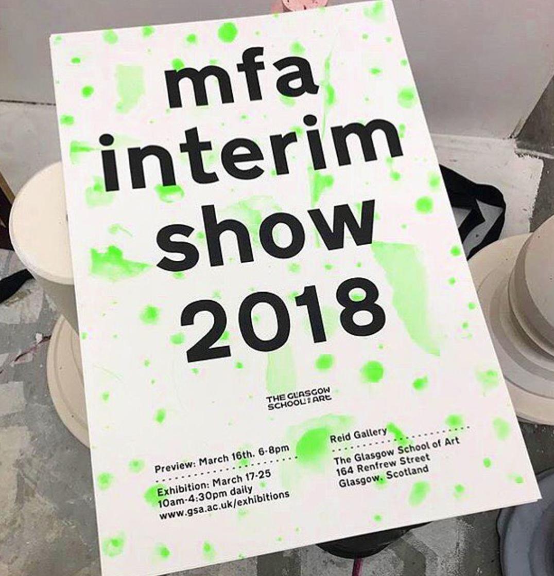 MFA Interim Show 2018, Reid galley, Glasgow, 2018