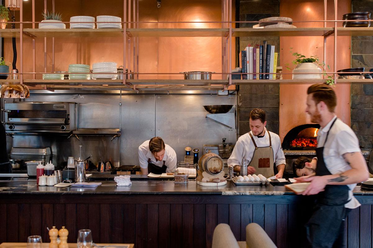 Kitchen at Banff Bison