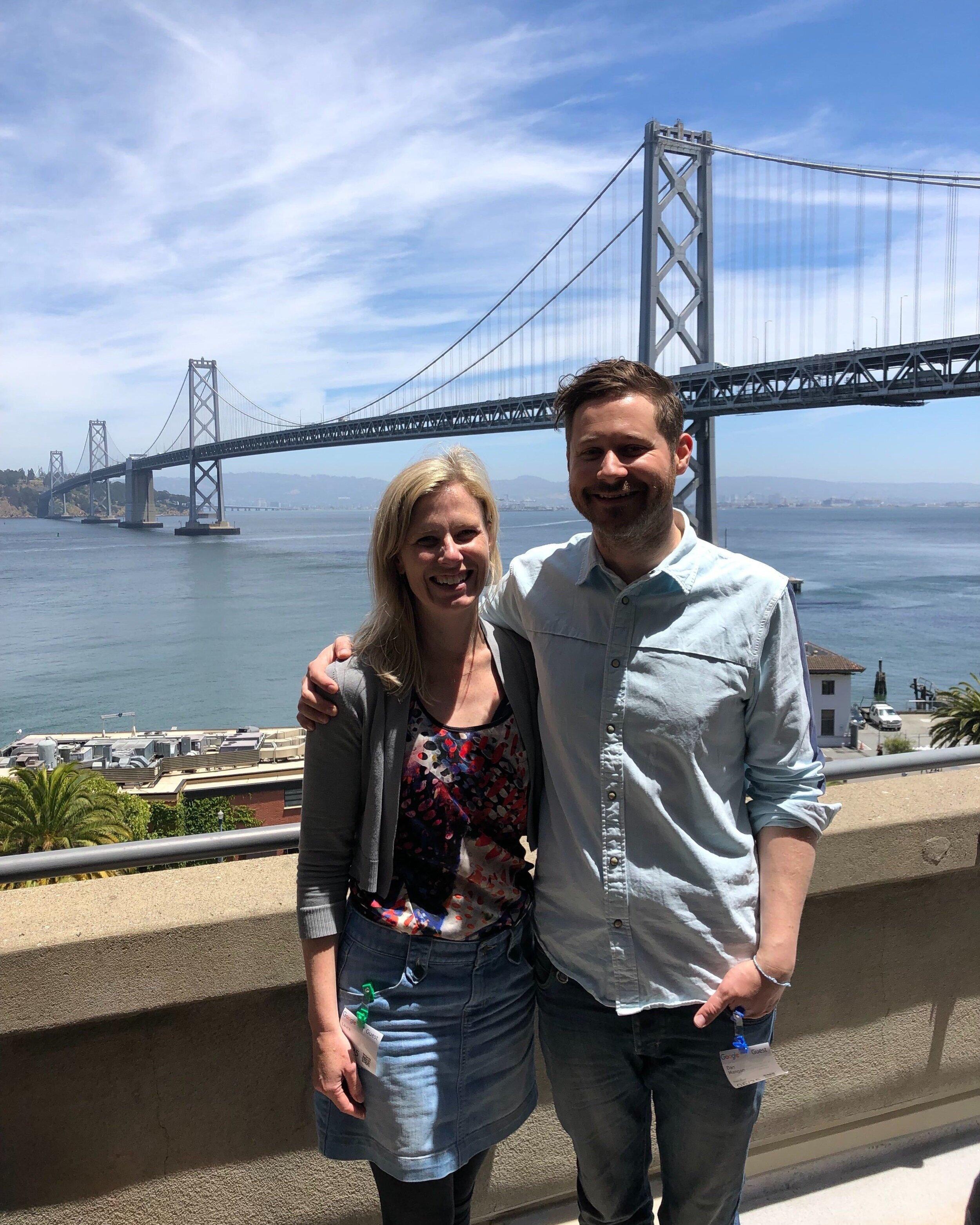 Co-Founders Laura & Dan in San Fransisco