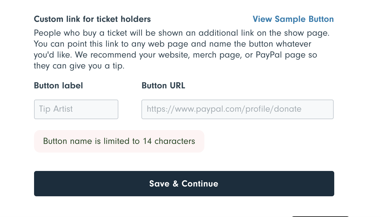 Add a custom call to action (CTA) to your show page!