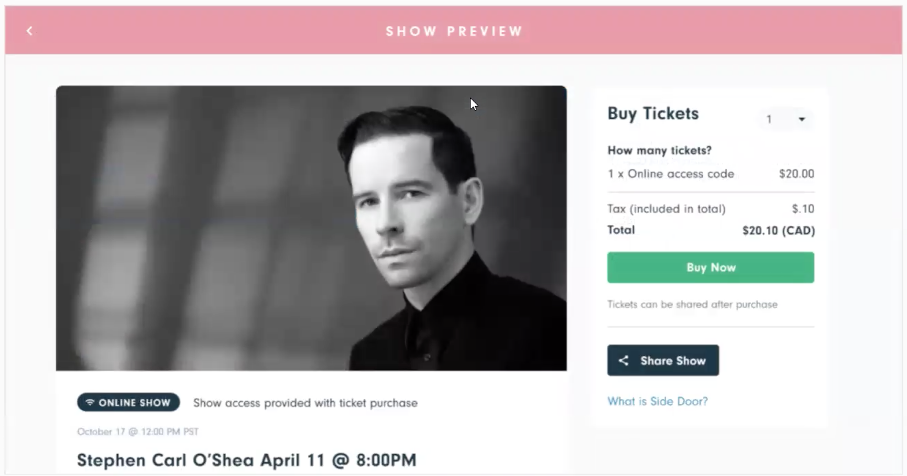 """Check out the """"Preview Show"""" option to make sure you're providing your guests with all of the information they need."""