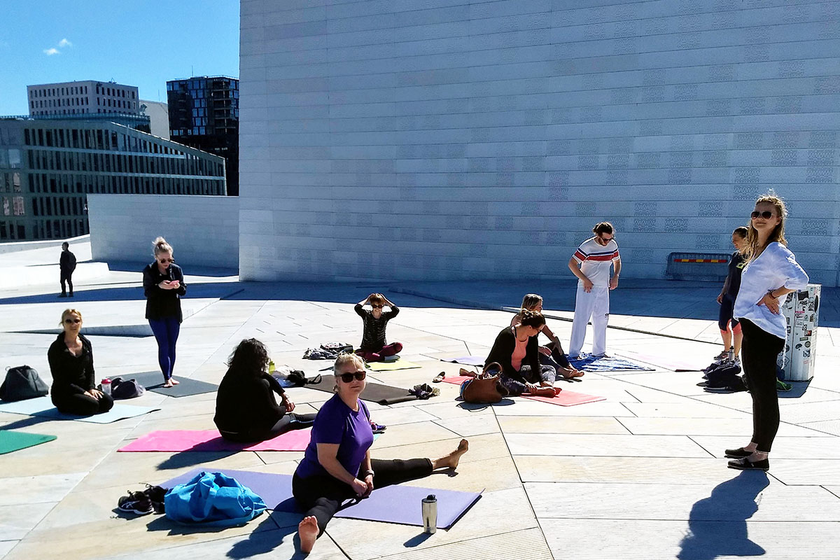 Yoga on top of the Opera by Agnes Staniak, YourYoga.