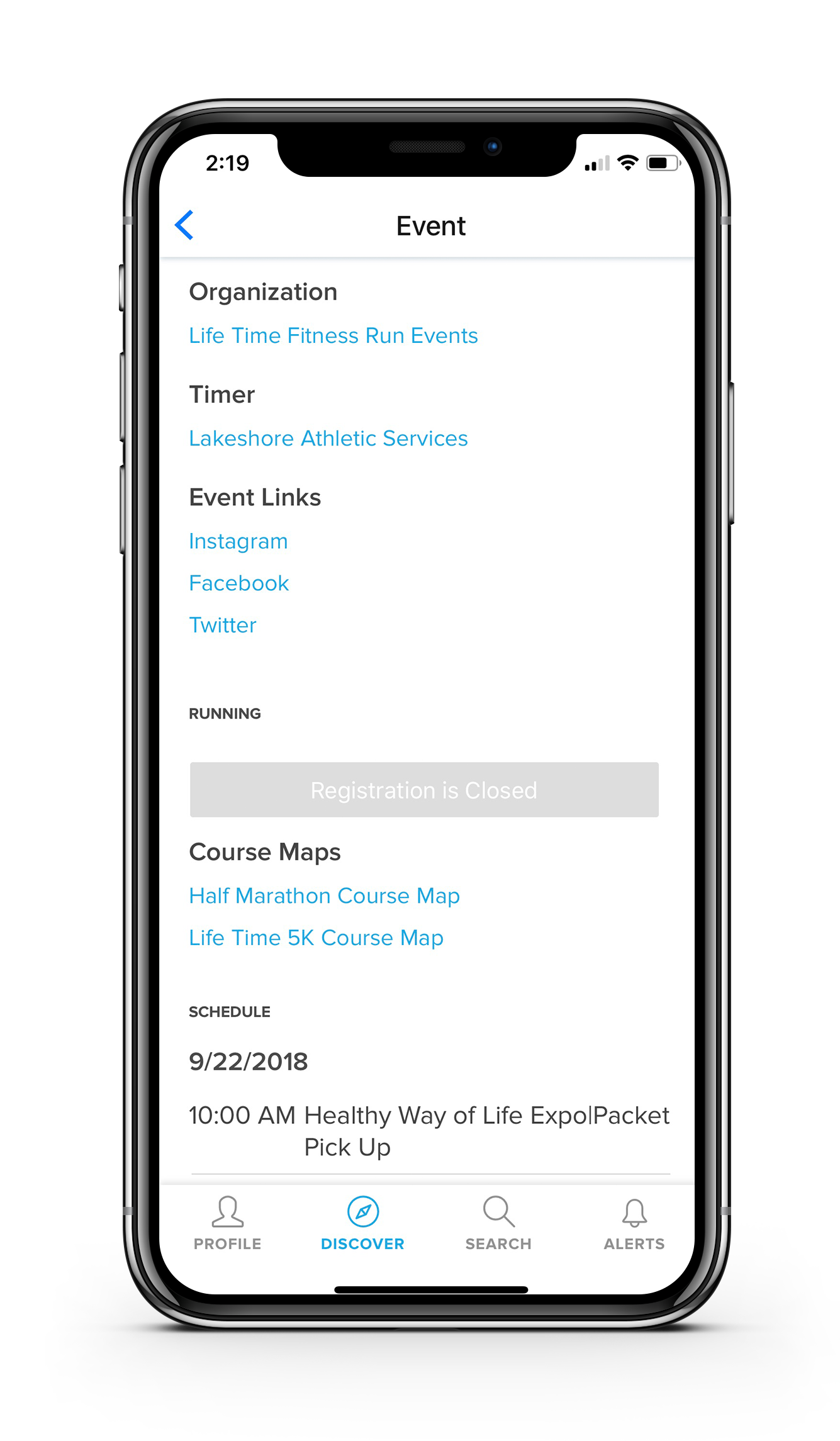 SHARE   Event information such as schedules, course maps and more!