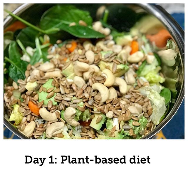 HOW TO EAT PLANTS WITH PROTEIN! . Make it simple, here's whats in the salad: . 1. Mixed greens with spinach 2. Avocado 3. Yellow bell pepper 4. Carrot chopped 5. Cashews 6. Sunflower seeds 7. Vinegar & Oil . Being healthy requires 3 things: . 1. Clean blood 2. Clear nervous system 3. Proper motion . It's simple-what you eat becomes you. . Food can heal the body and give you energy all day long. . Clean your blood through diet will: . 1. Improve cognition 2. Increase energy levels 3. Reverse disease 4. Prevent disease 5. Regenerate healthy tissues . DM me with any questions. . LiveElite.com . #Healthyfood #foodismedicine #salad #plantbaseddiet #plantfood #foodporn #saladrecipe #elitewellness teamelite #chiro #drbenduke #chicago #chiropractor #foodstagram #recipe #plantprotein #wellness #doctor #holistic