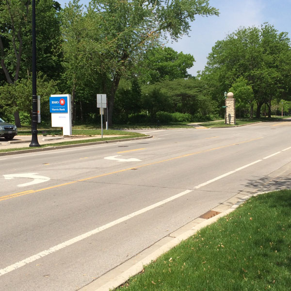 From the south   Take Sheridan Road to 10th Street. Turn left.