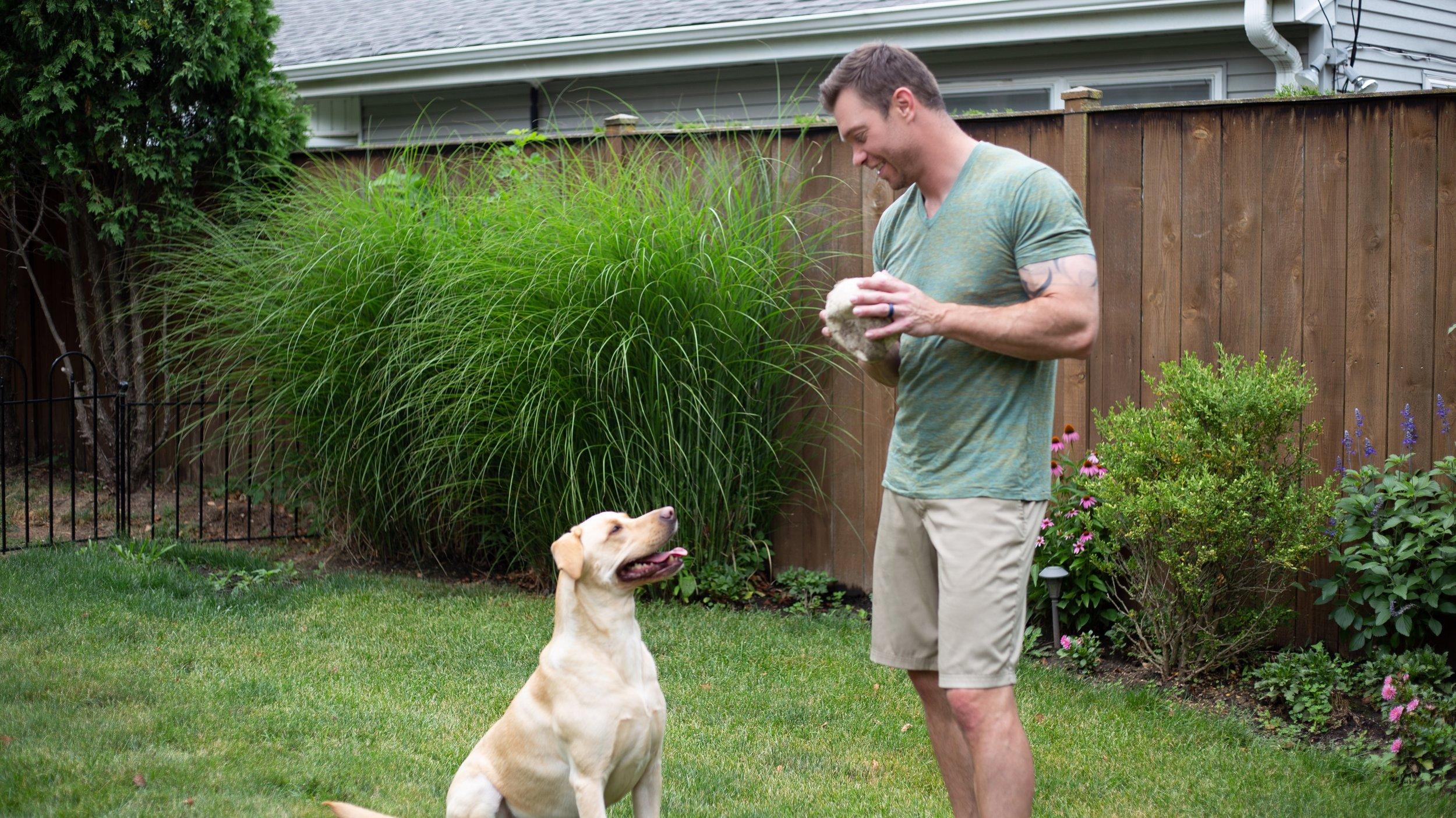 Dr. Ben Duke with Dog