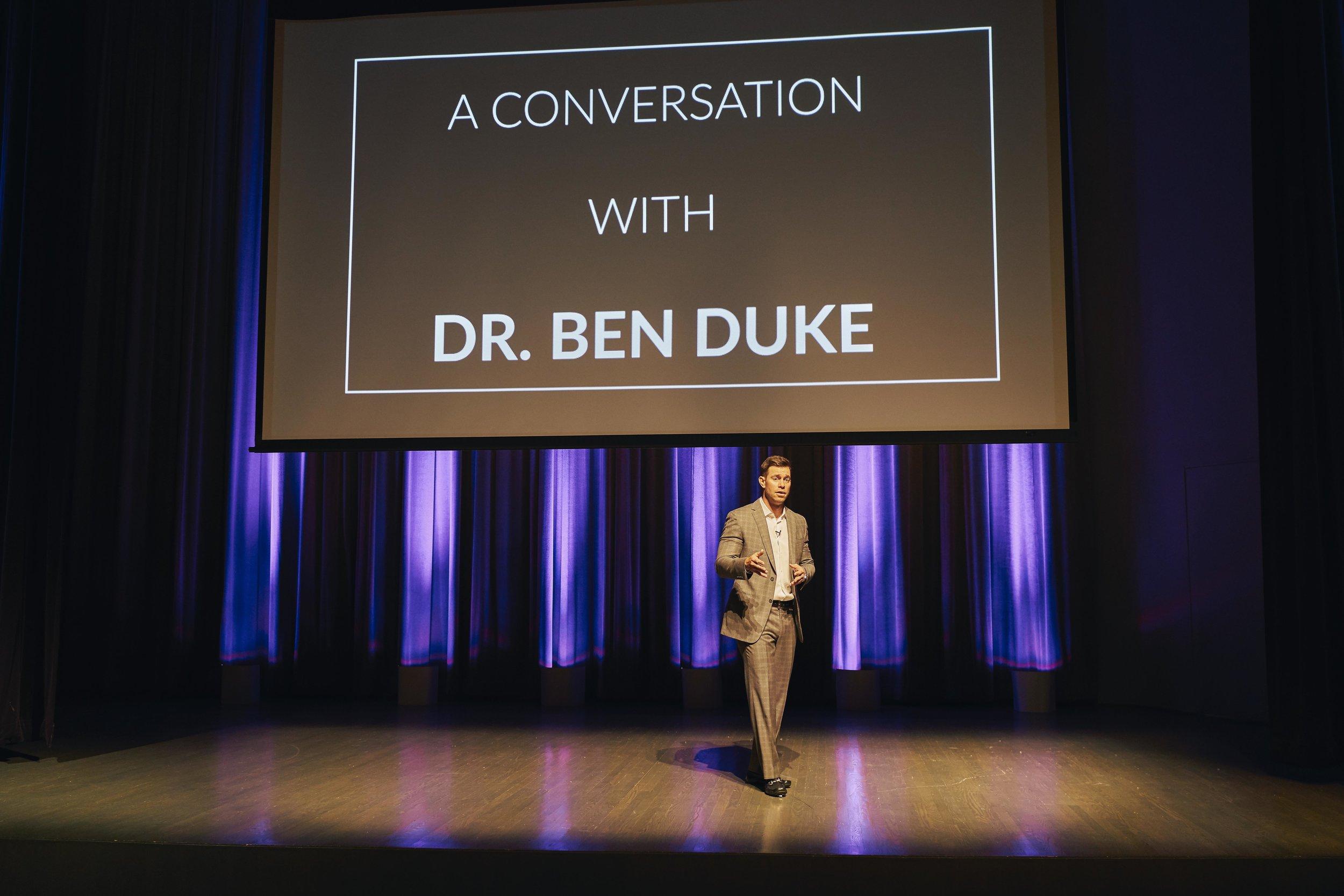 Dr Ben Duke Speaking Workshop 1