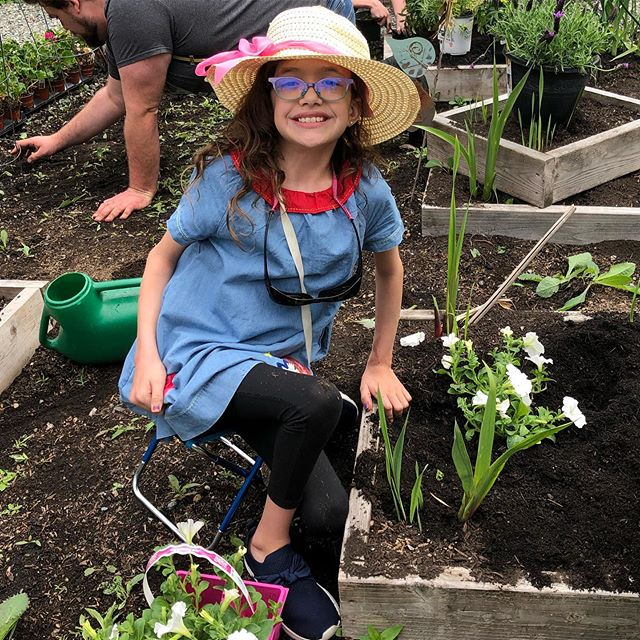 One of our students enjoying herself during our All-School Event, The Garden Party.